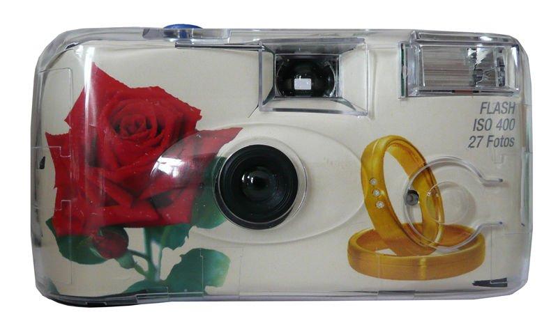 """RINGFOTO jednorázový fotoaparát s bleskem """"Svatební"""" 400-27sn."""