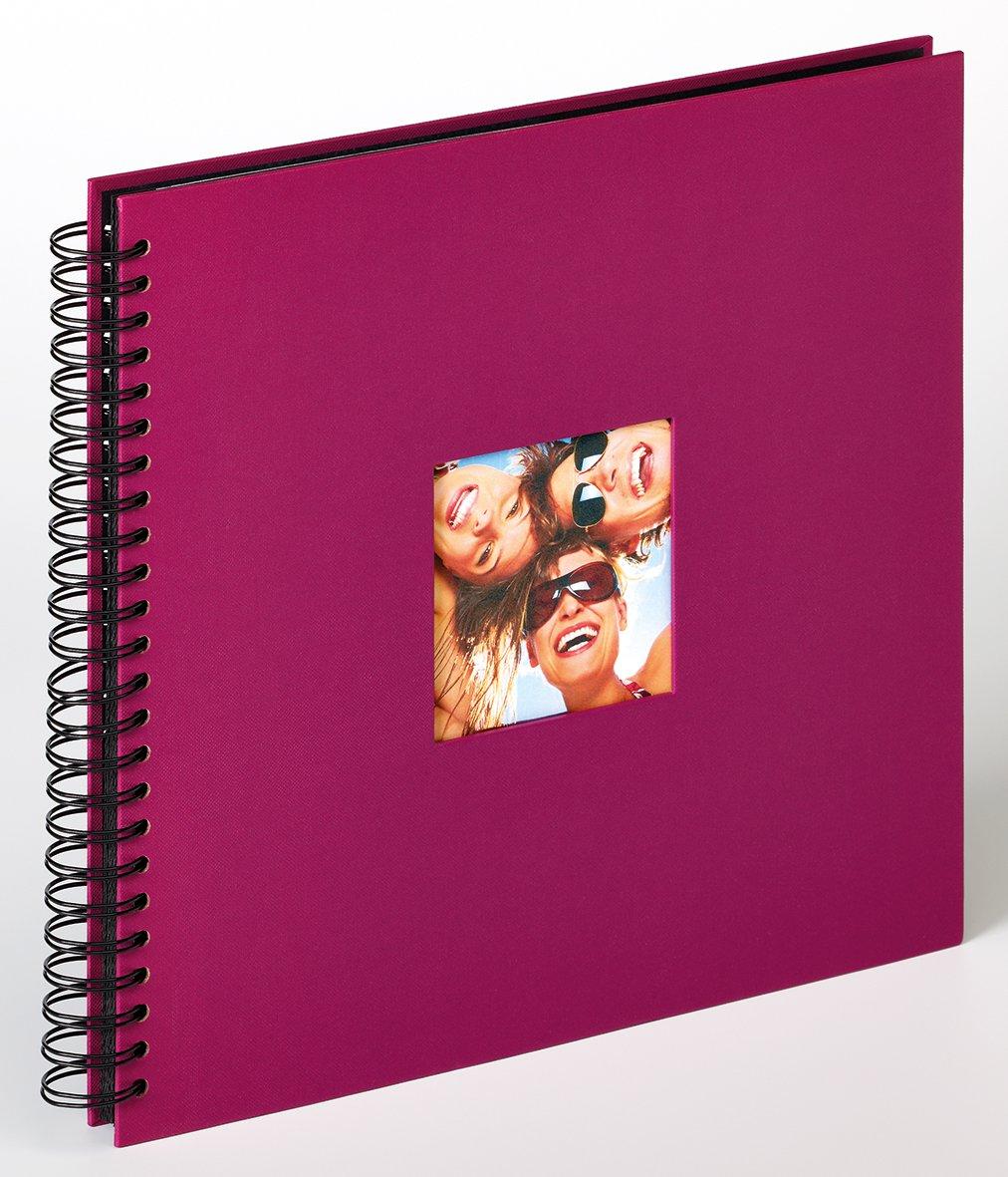 WALTHER FUN klasické/50 stran, 30x30,  kroužková vazba,černé listy, fialová