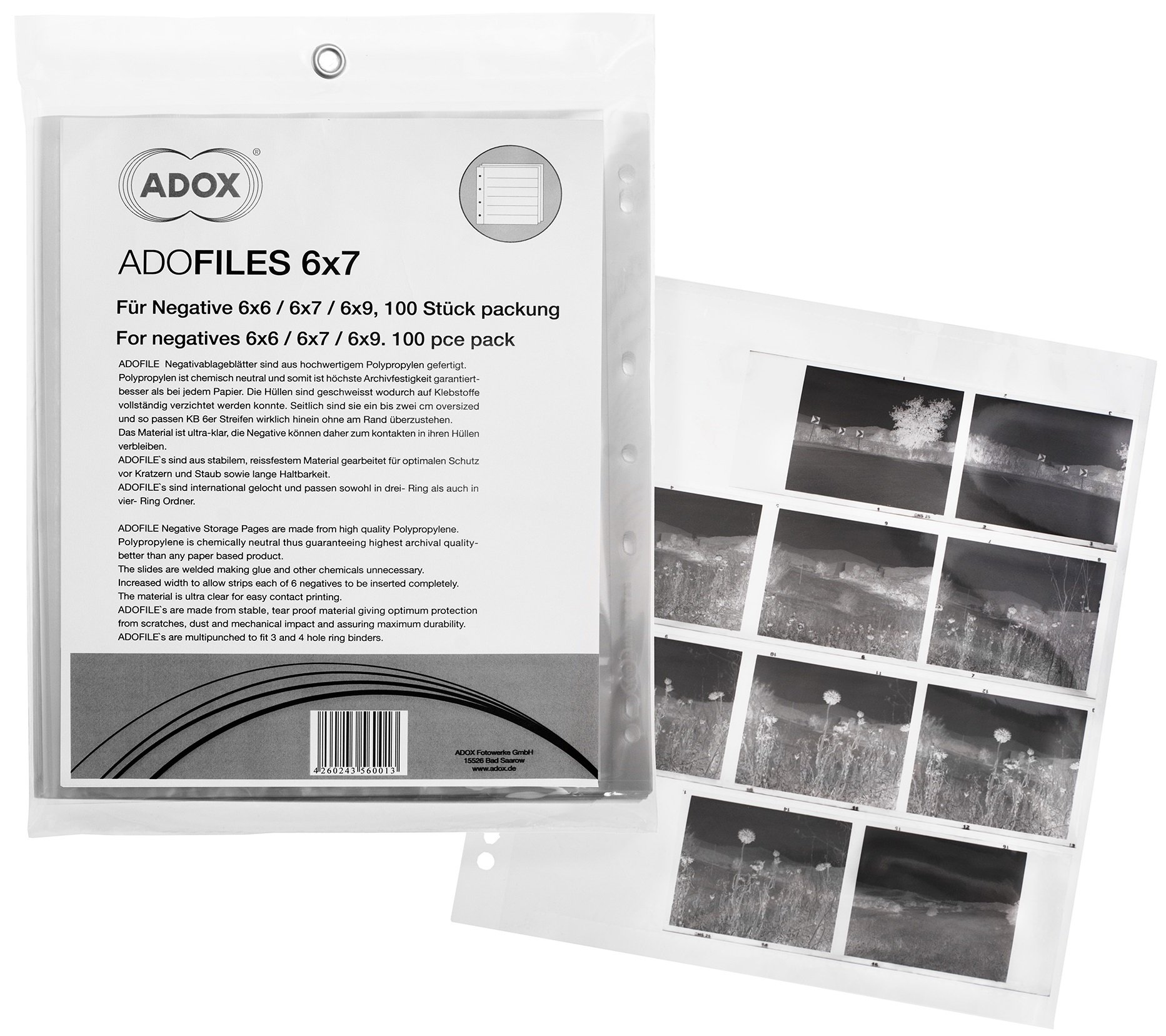 ADOX ADOFILE - archiv 6x6/6x7/6x9 PP