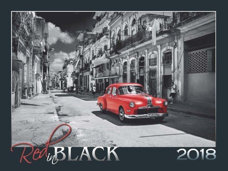 Kalendář RED IN BLACK 2018