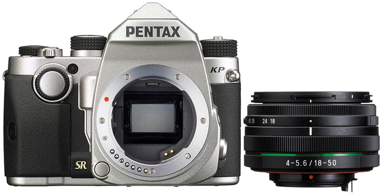 PENTAX KP + 18-50 mm stříbrný