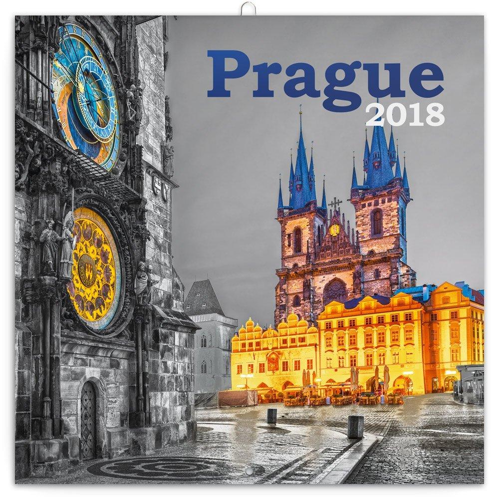 KALENDÁŘ 2018 - PRAHA ČERNOBÍLÁ, 30x30cm