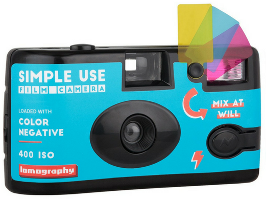 LOMOGRAPHY jednorázový fotoaparát s bleskem COLOR 400/36