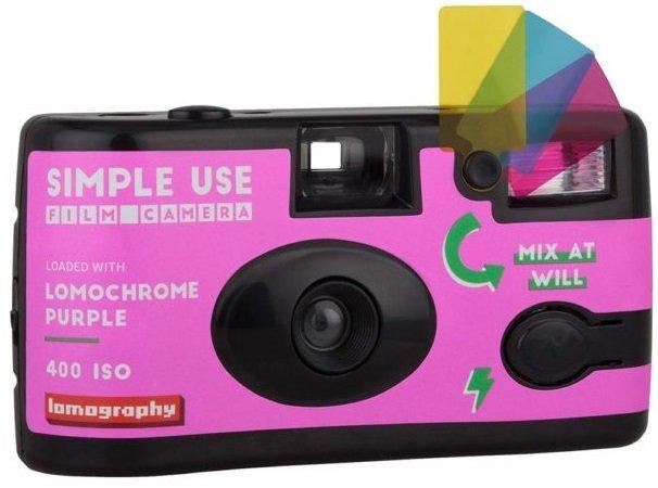 LOMOGRAPHY jednorázový fotoaparát s bleskem LomoChrome Purple 400/36