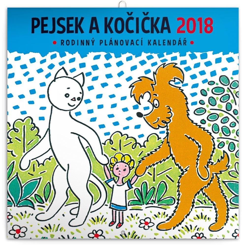 KALENDÁŘ 2018 - PEJSEK A KOČIČKA, 30x30cm