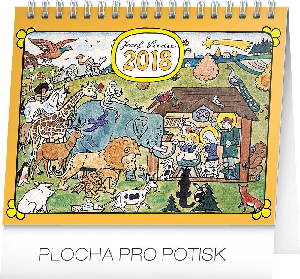 KALENDÁŘ 2018 - JOSEF LADA - ZVÍŘÁTKA, 16,5x13cm