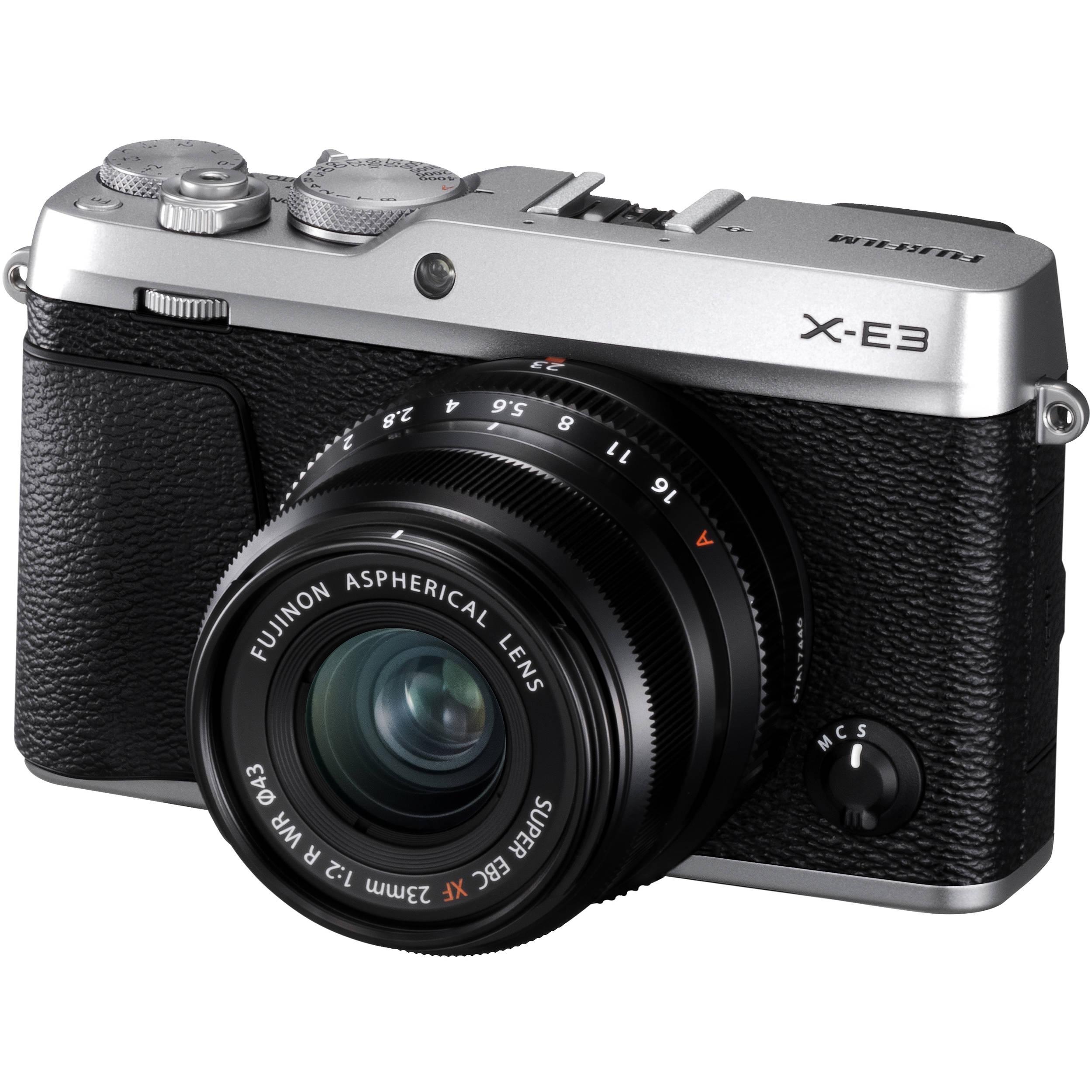 FUJIFILM X-E3 + 23 mm stříbrný