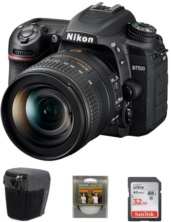 NIKON D7500 + 18-105 mm VR + SDHC 32GB + UV filtr + brašna