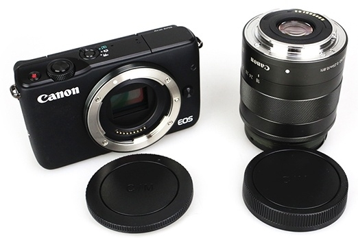 JJC set krytek pro Canon EOS M ( tělo + zadní objektiv )