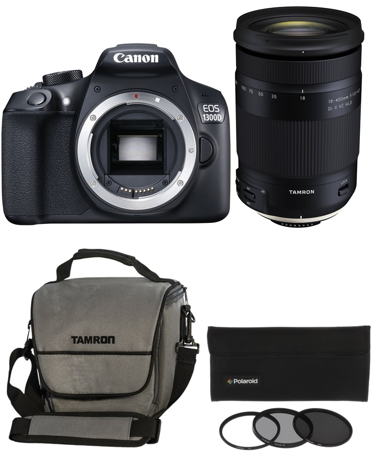 CANON EOS 1300D + TAMRON 18-400 mm