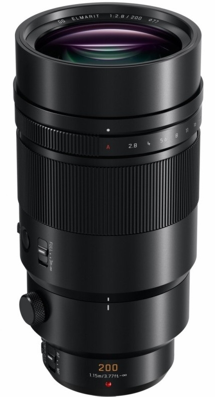 PANASONIC 200 mm f/2,8 černý Power O.I.S. LEICA