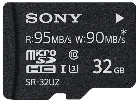 SONY microSDHC 32GB UHS-I Class 10 R:95MB/s W:90MB/s