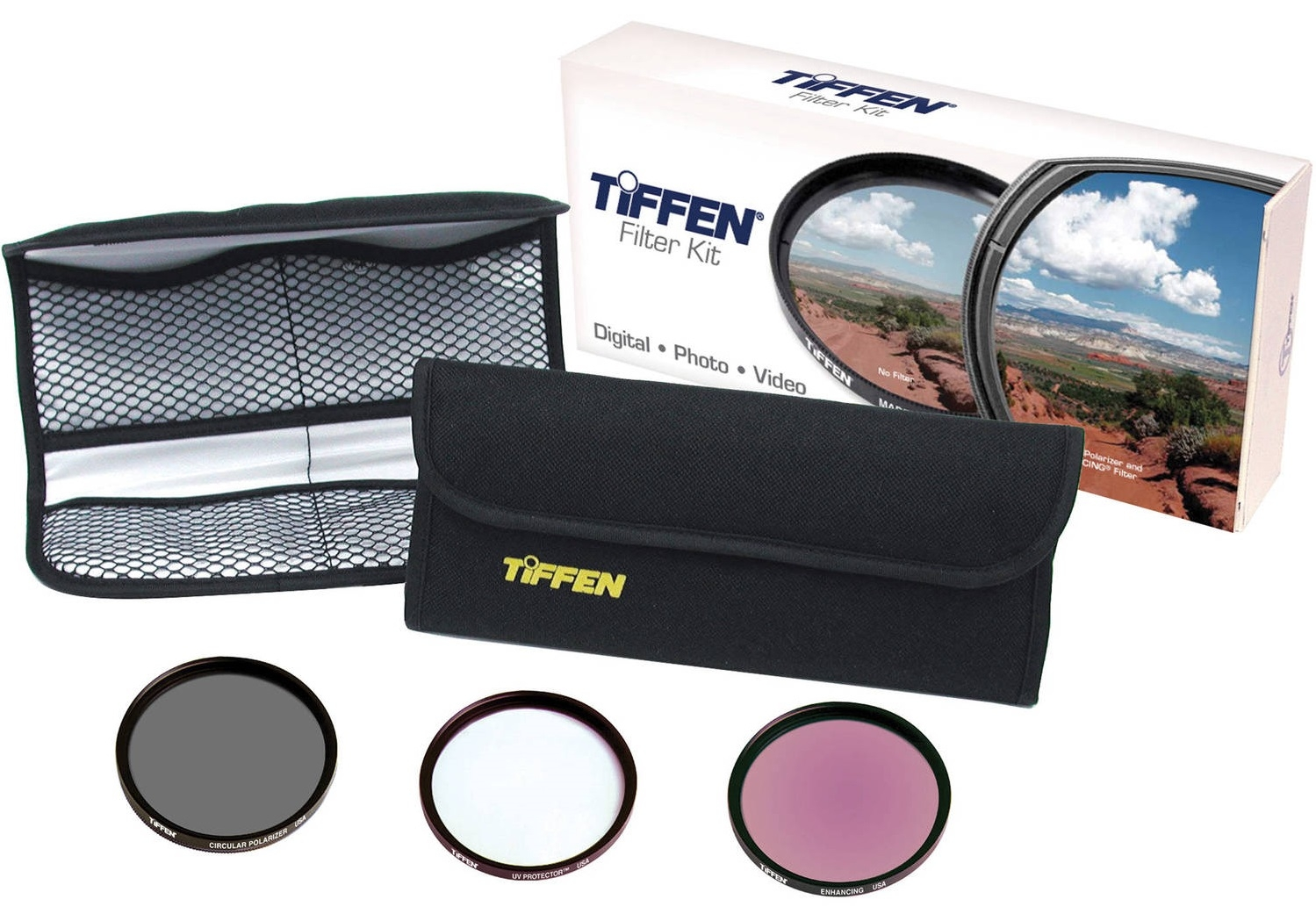 TIFFEN sada filtrů UV, CPL, Enhancing 62 mm Slim