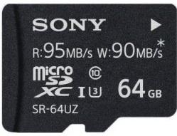 SONY microSDXC 64GB UHS-I Class 10 R:95MB/s W:90MB/s
