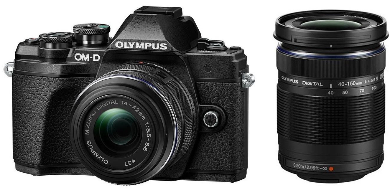 OLYMPUS E-M10 Mark III černý + 14-42 IIR černý + 40-150R černý