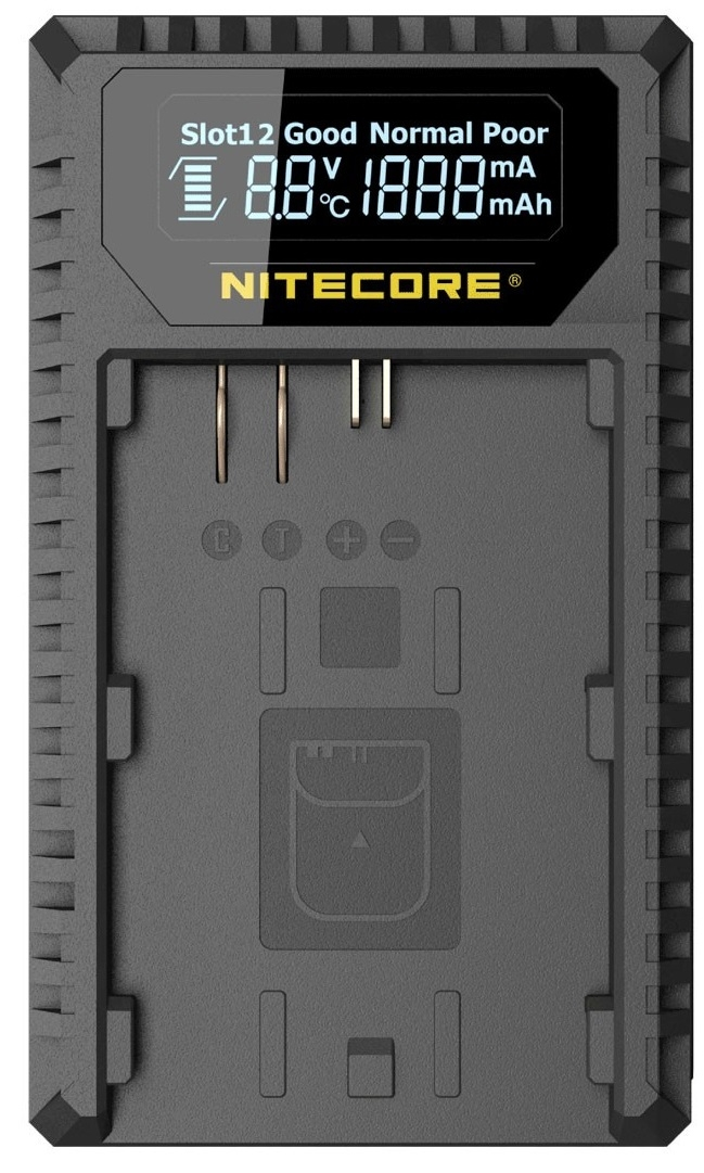 NITECORE NC-UCN1 nabíječka pro aku Canon LP-E6/E6N a LP-E8