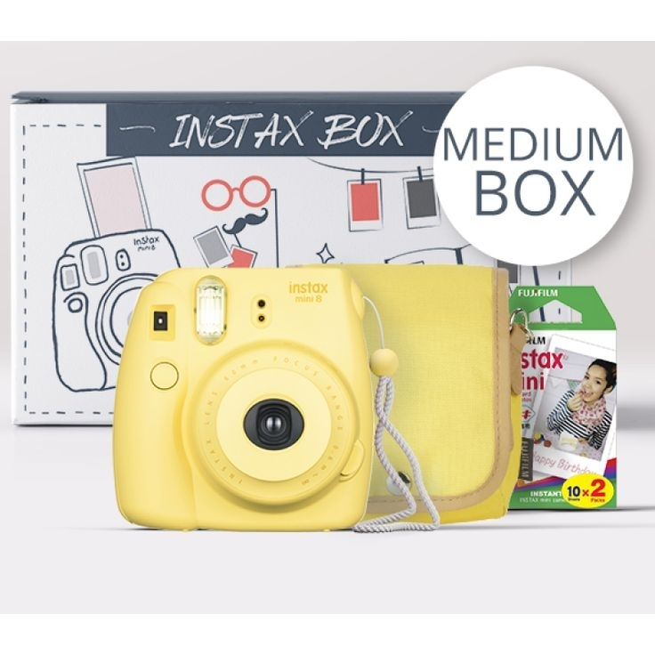 FUJIFILM INSTAX Box Medium MINI 8 žlutý