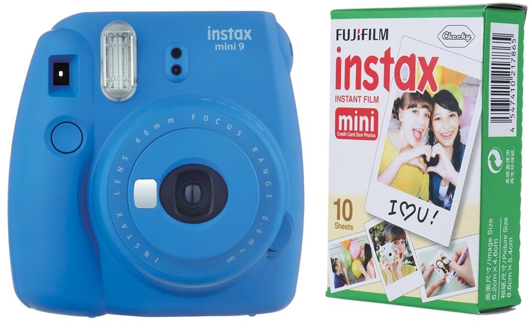 FUJIFILM INSTAX MINI 9 tmavě modrý BOX malý