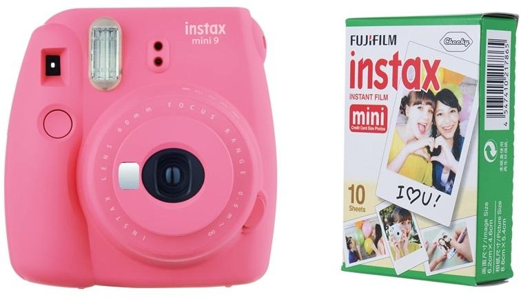 FUJIFILM INSTAX MINI 9 růžový BOX malý
