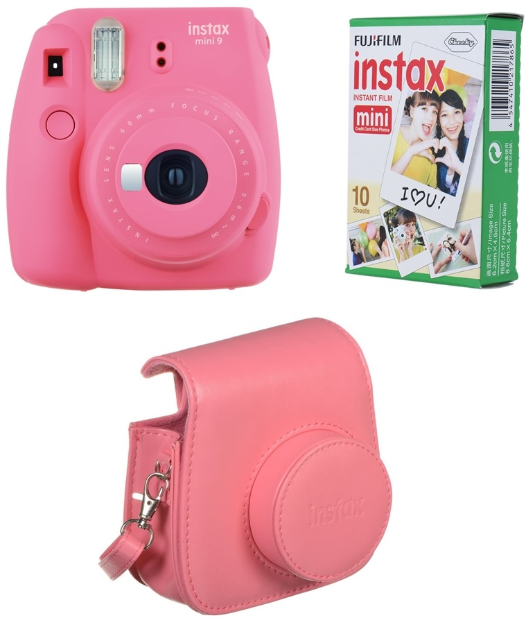 FUJIFILM INSTAX MINI 9 růžový BOX velký  d5583ec346e