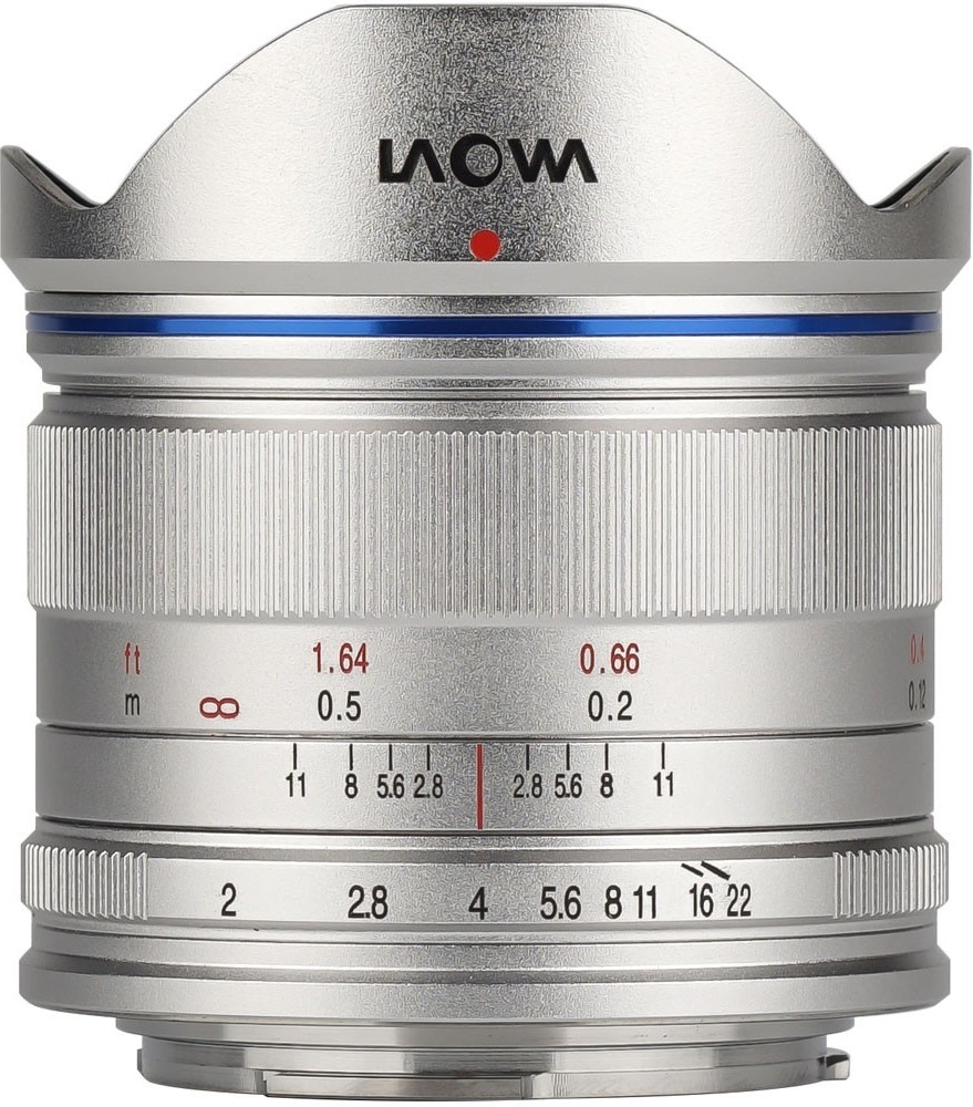 LAOWA 7,5 mm f/2 (dron verze) pro Olympus/Panasonic MFT stříbrný