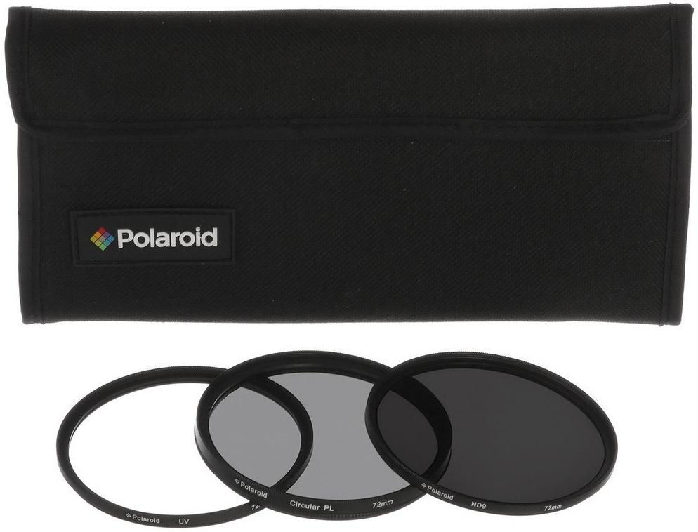 POLAROID sada filtrů UV, CPL, ND9 49 mm