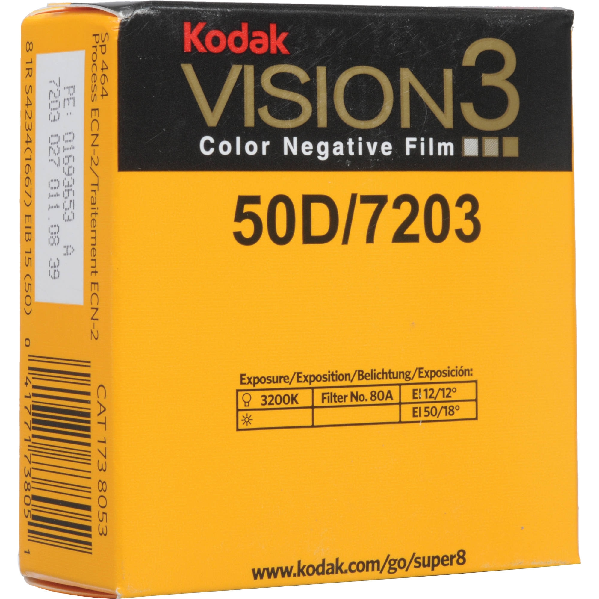 KODAK Vision3 50D super 8 mm 7203 v kazetě