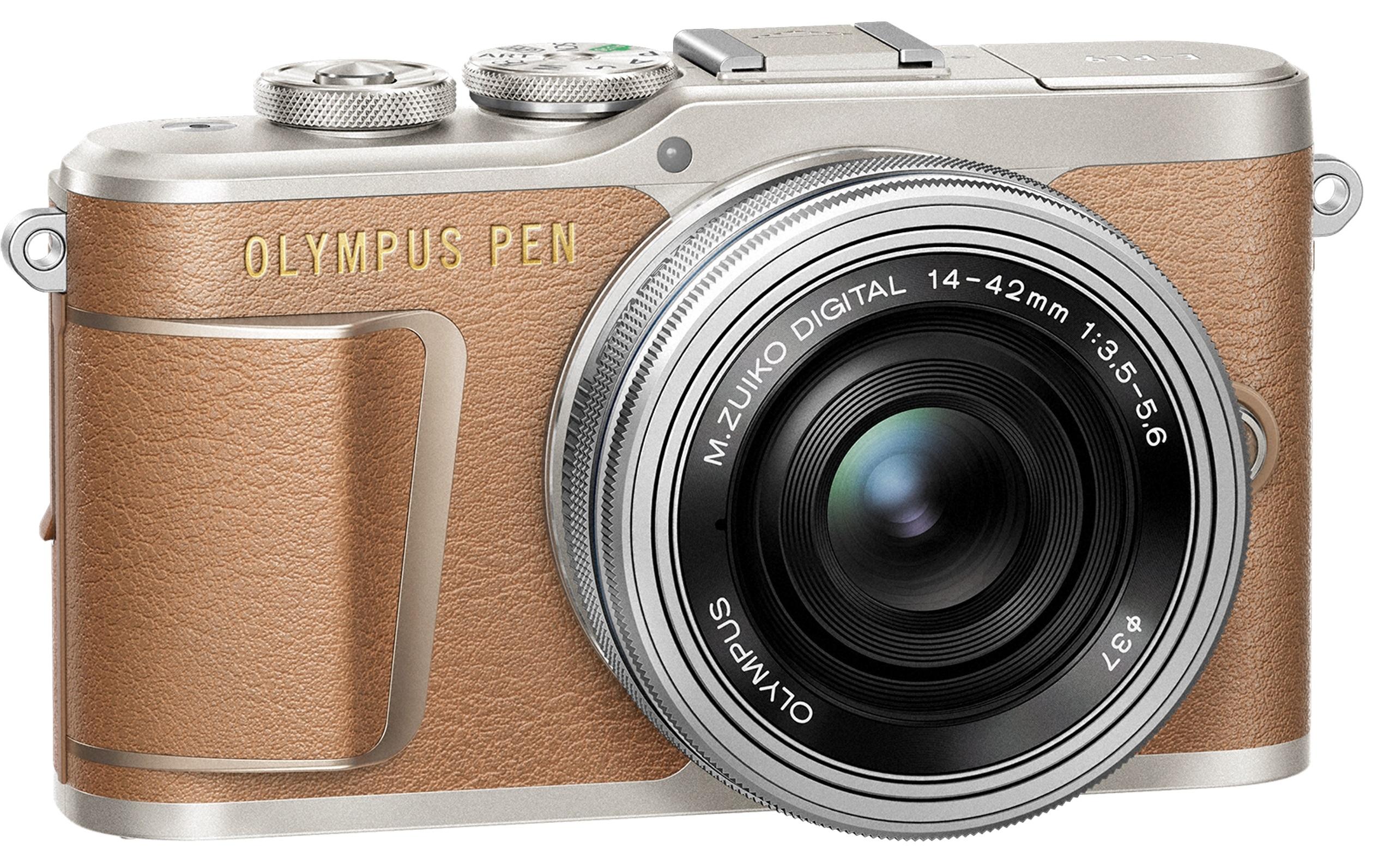 OLYMPUS E-PL9 hnědý + 14-42mm EZ