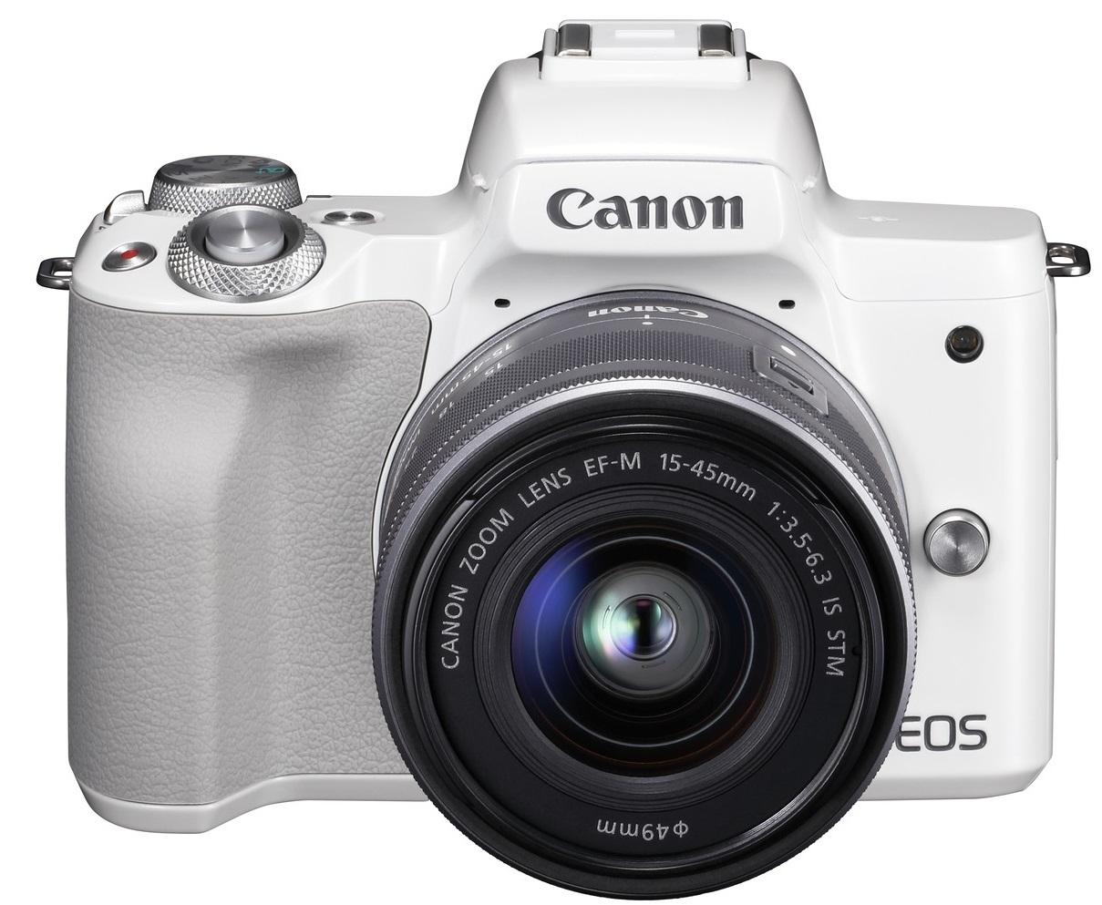CANON EOS M50 bílý + 15-45 mm