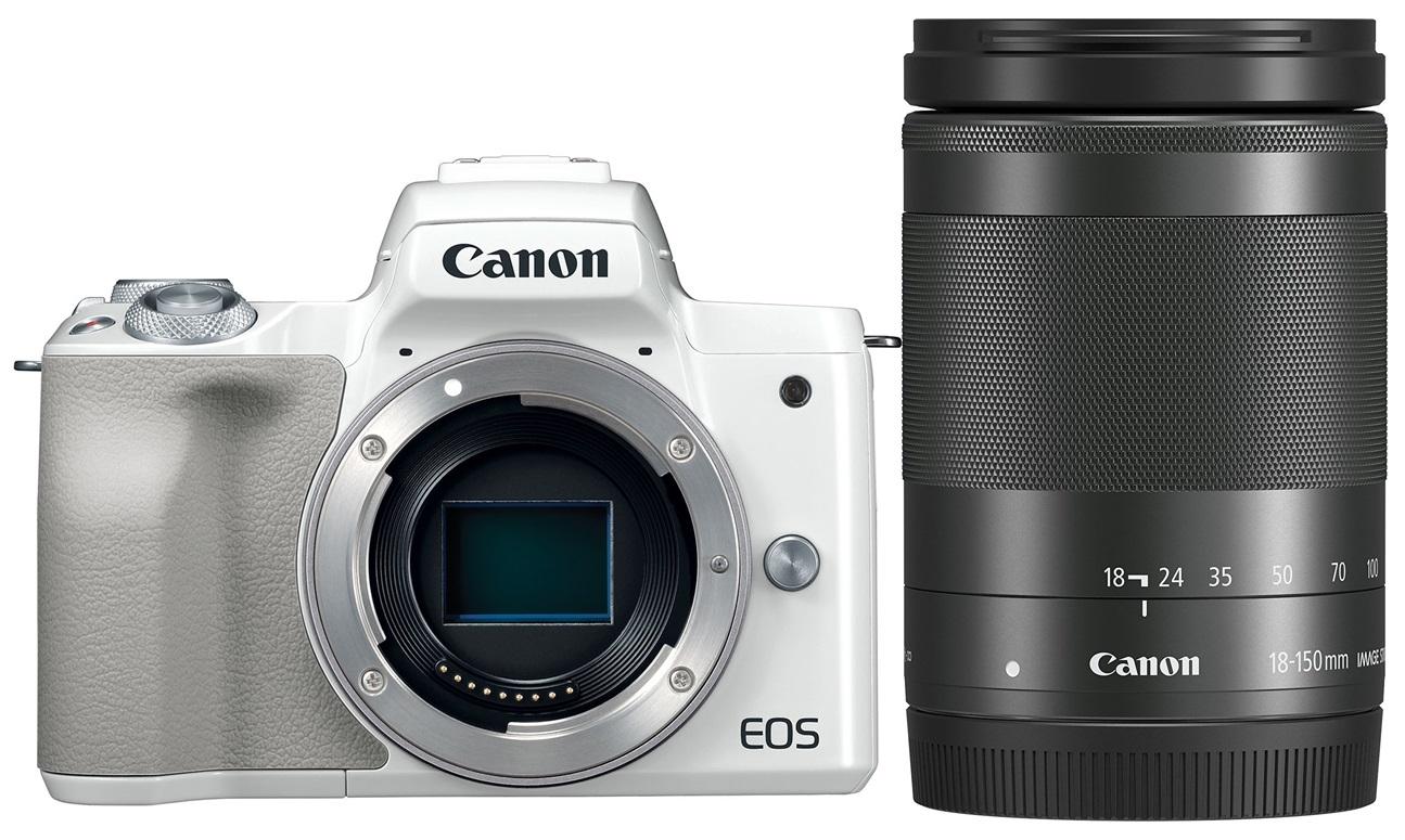 CANON EOS M50 bílý + 18-150 mm