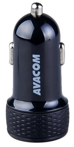 AVACOM nabíječka do auta se dvěma USB výstupy 5V/1A - 3,1A, černá barva