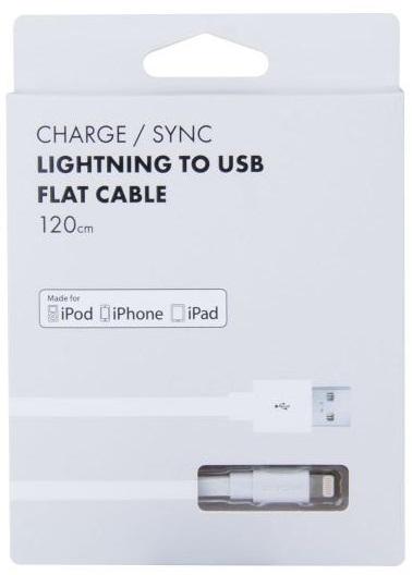 AVACOM MFI-120W kabel USB - Lightning, MFi certifikace, 120cm, bílý