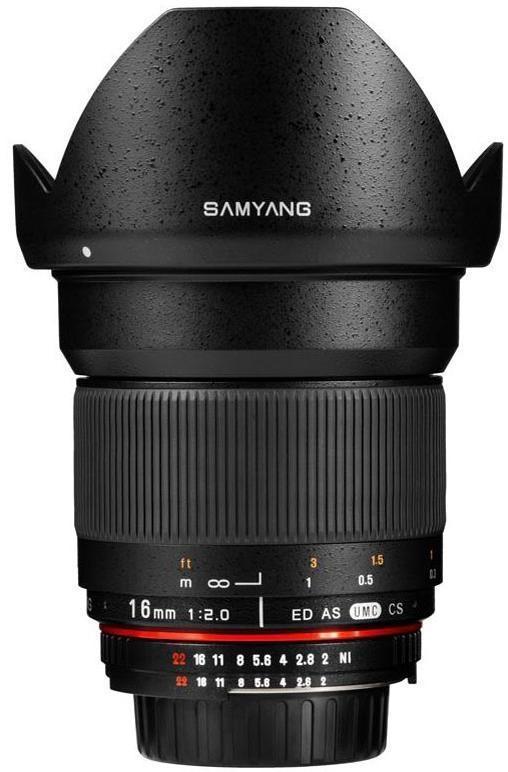 SAMYANG 16 mm T2,2 VDSLR ED AS UMC CS pro Sony E (APS-C)