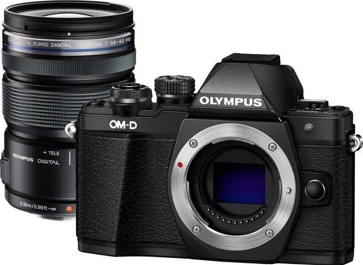 OLYMPUS E-M10 Mark II černý + 12-50  černý
