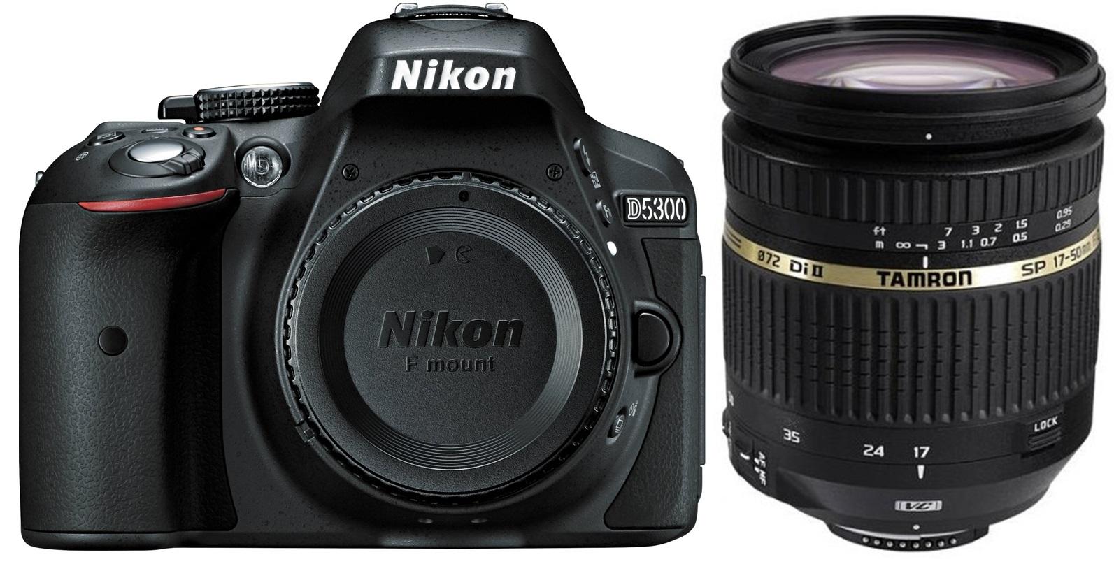 NIKON D5300 černý + TAMRON 17-50 mm VC
