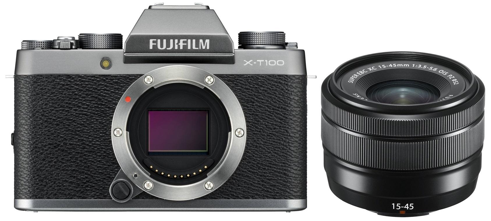 FUJIFILM X-T100 stříbrný + XC 15-45 mm