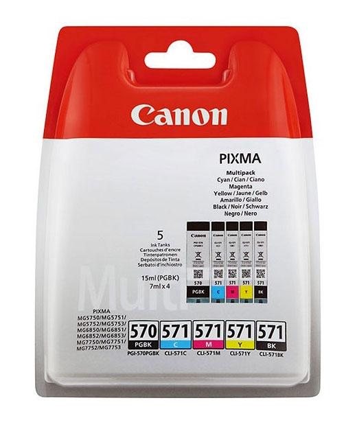 CANON Náplň CLI-571 PGBK/C/M/Y/BK Multi pack