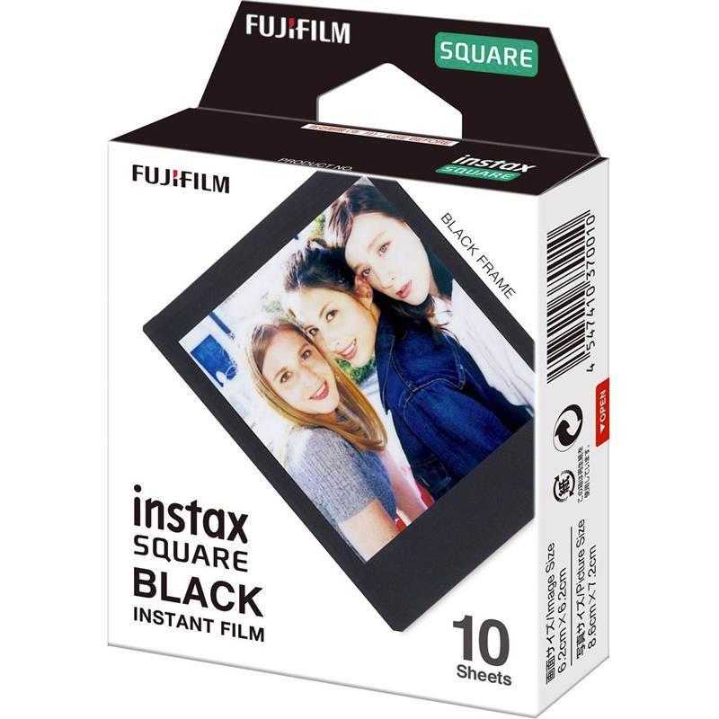 FUJIFILM INSTAX COLORFILM SQUARE Black Frame (10KS)
