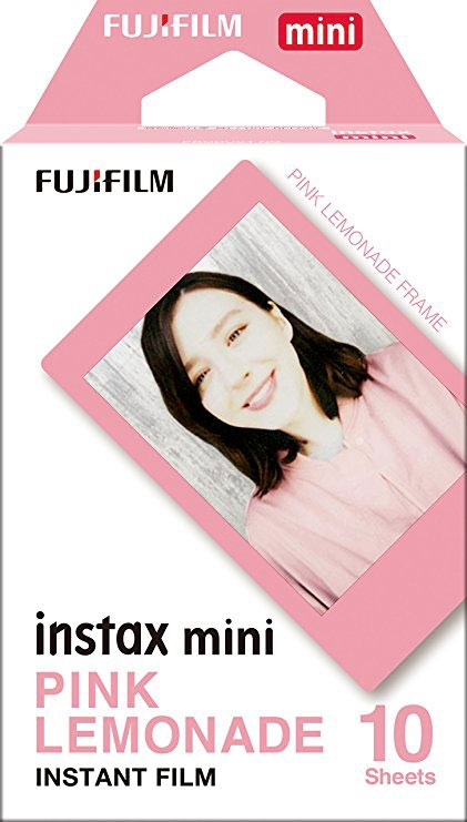 FUJIFILM INSTAX COLORFILM MINI GLOSSY PINK LEMONADE  FRAME WW 1