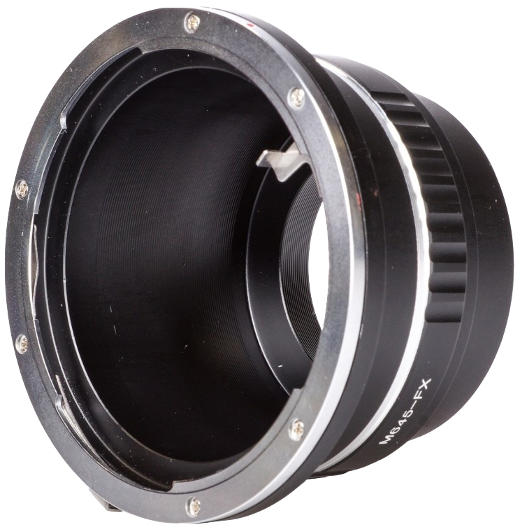 B.I.G. adaptér objektivu Mamiya 645 na tělo Fujifilm X