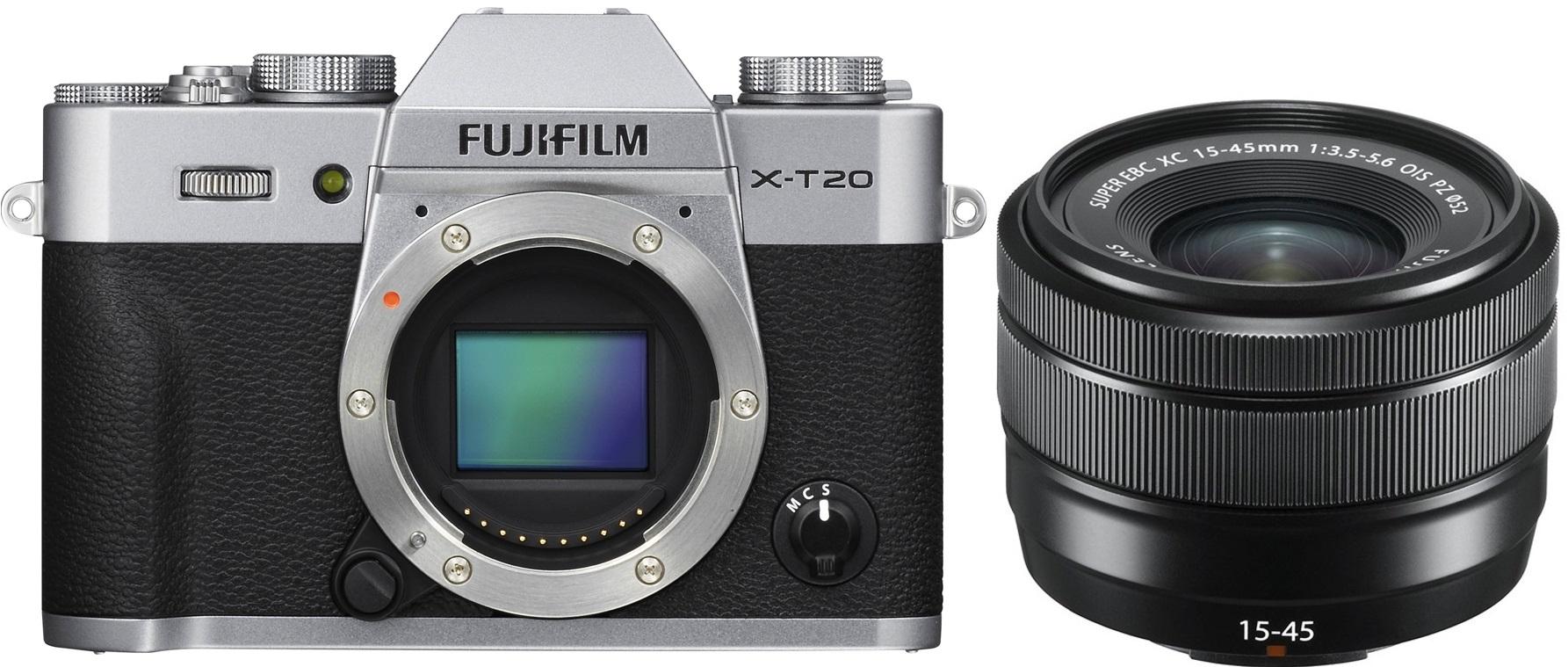 FUJIFILM X-T20 stříbrný + XC 15-45 mm