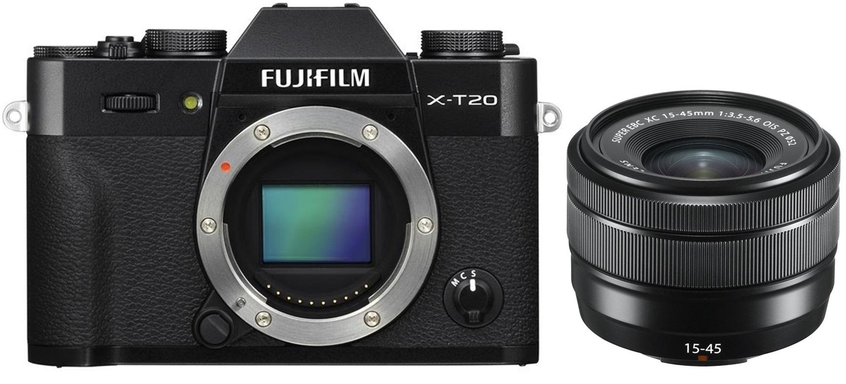 FUJIFILM X-T20 černý + XC 15-45 mm