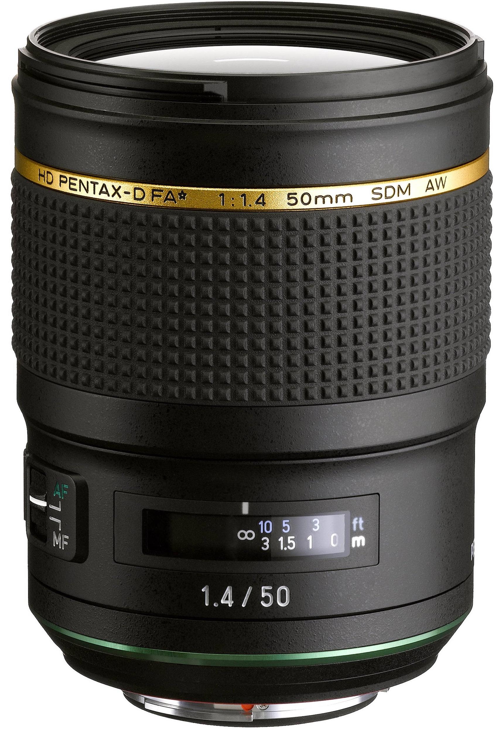 PENTAX 50 mm f/1,4 HD D-FA* SDM AW