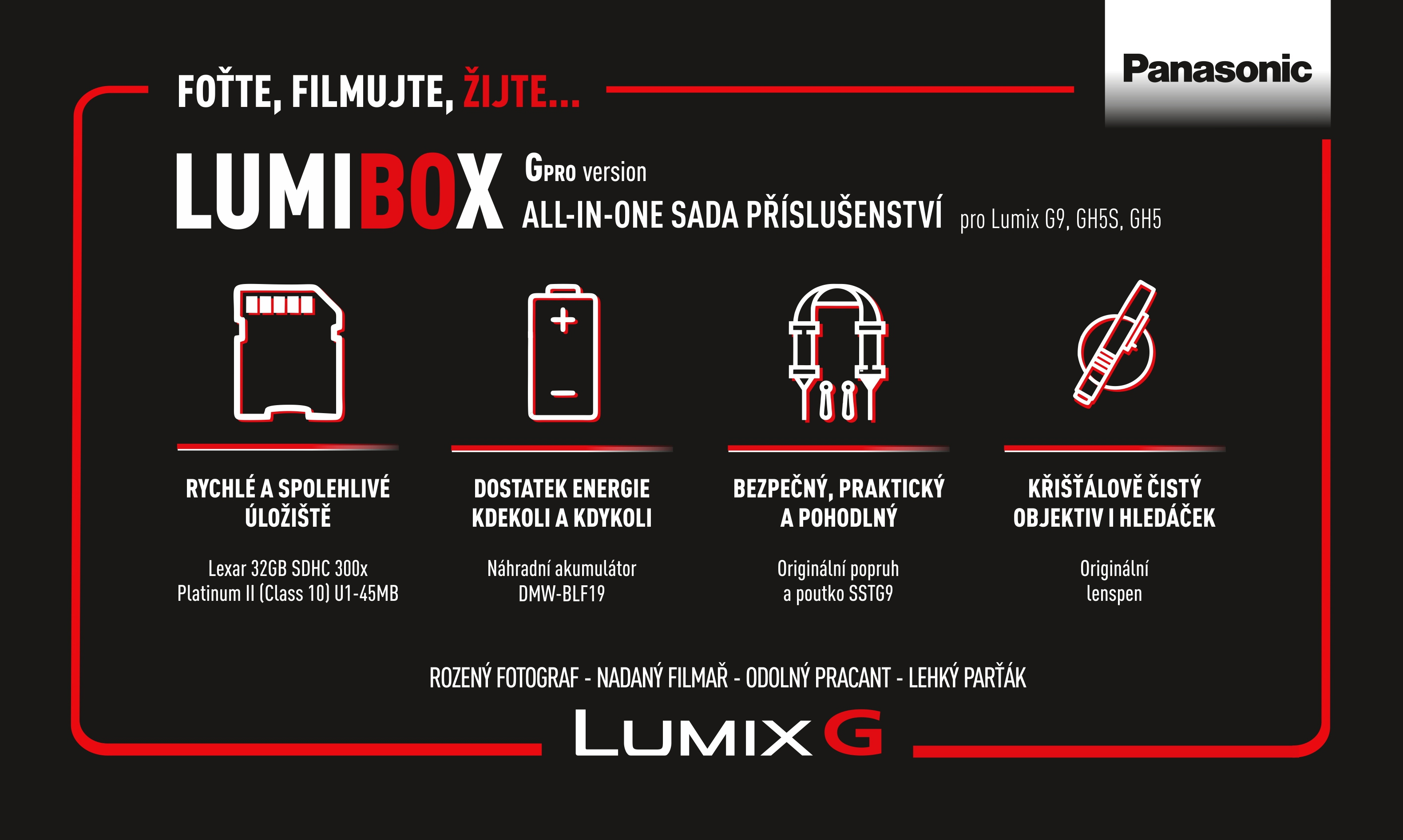 PANASONIC LumiBox sada příslušenství pro G Pro