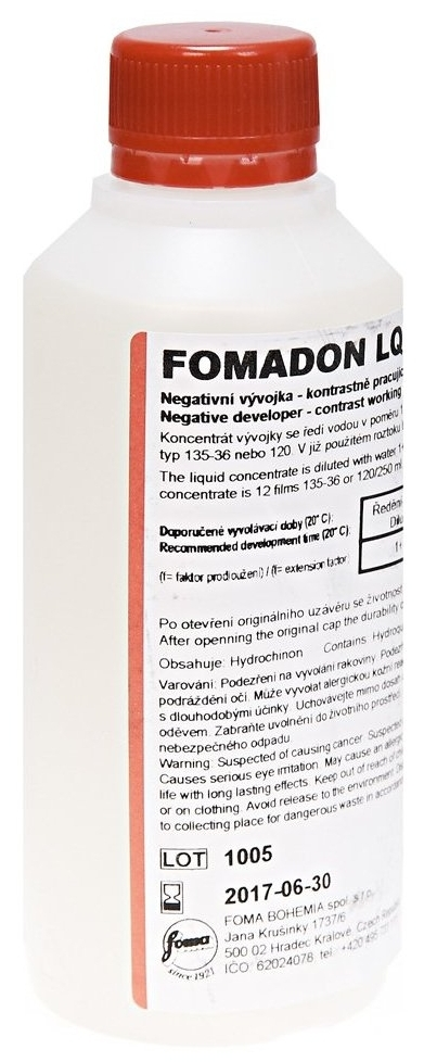 FOMADON LQR negativní vývojka 250 ml  expirace 9/2018