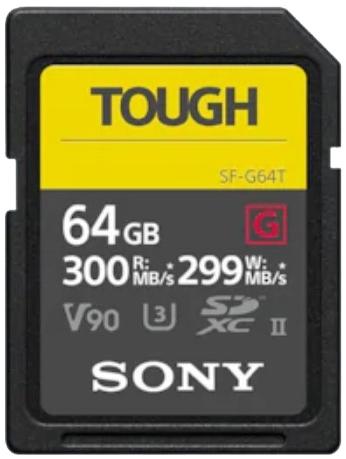 SONY SDXC 64GB TOUGH UHS-II SF-G 299MB/s