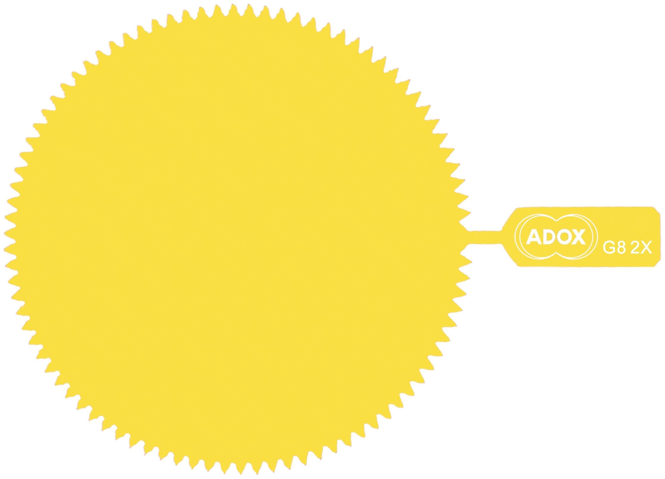 ADOX filtr želatinový žlutý 82 mm
