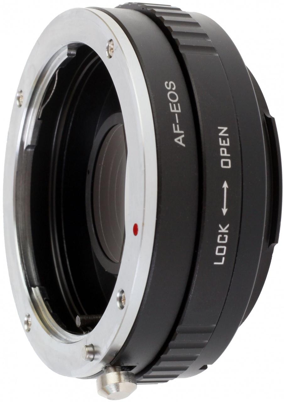 B.I.G. adaptér objektivu Sony A/Minolta Dynax na tělo Canon EF s optikou