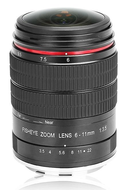 MEIKE 6-11 mm f/3,5 MC Fisheye pro Canon EOS (APS-C)