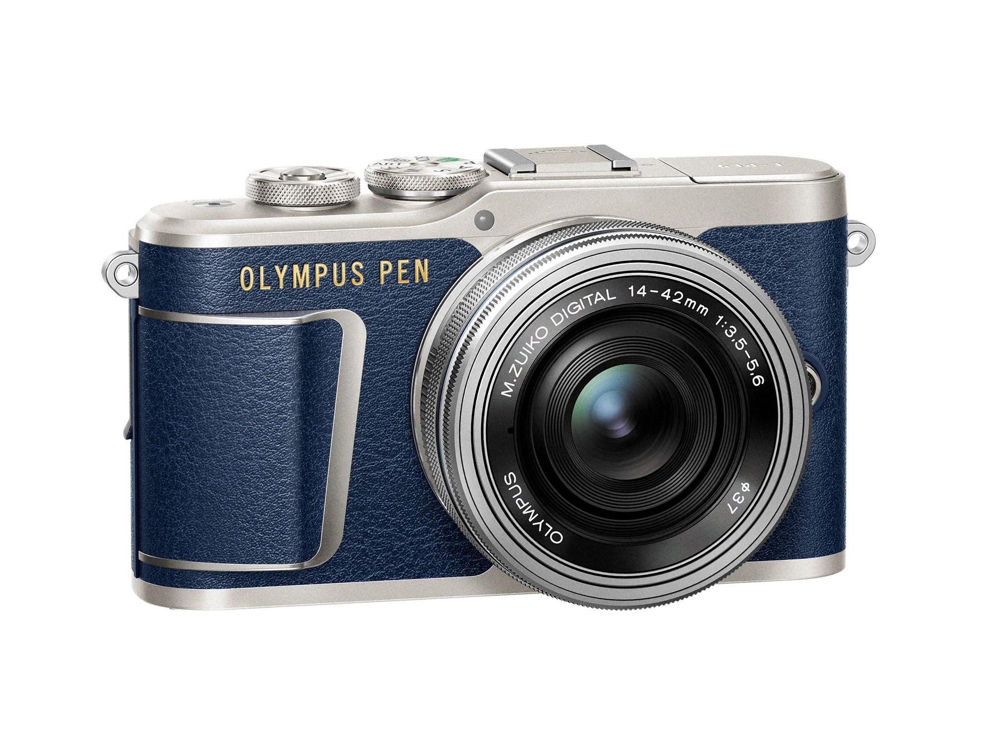 OLYMPUS E-PL9 modrý + 14-42mm EZ